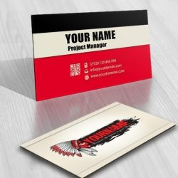 3058-Native-American-online-logo-business-card-design