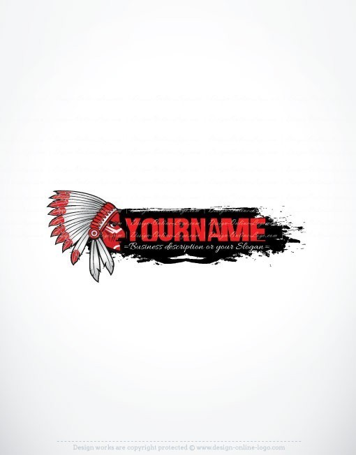 3058-online-American-Indian-logo-design-templates