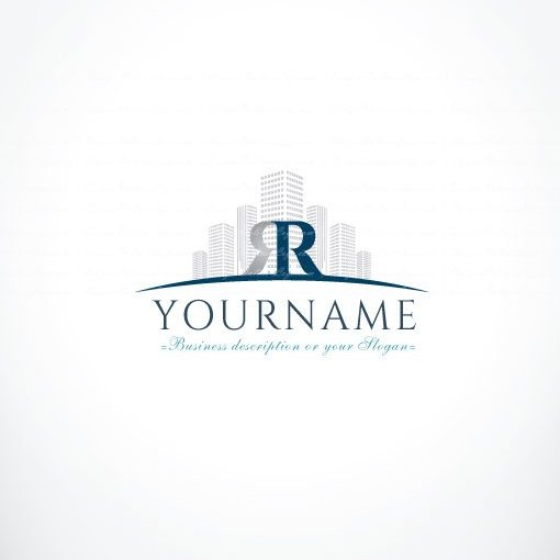 Online Initials Real Estate Logo Free Business Card
