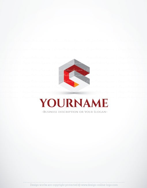 Abstract 3d company logo free business card Business logo design company