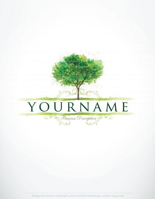 Exclusive Design Creative Tree Logo FREE Business Card