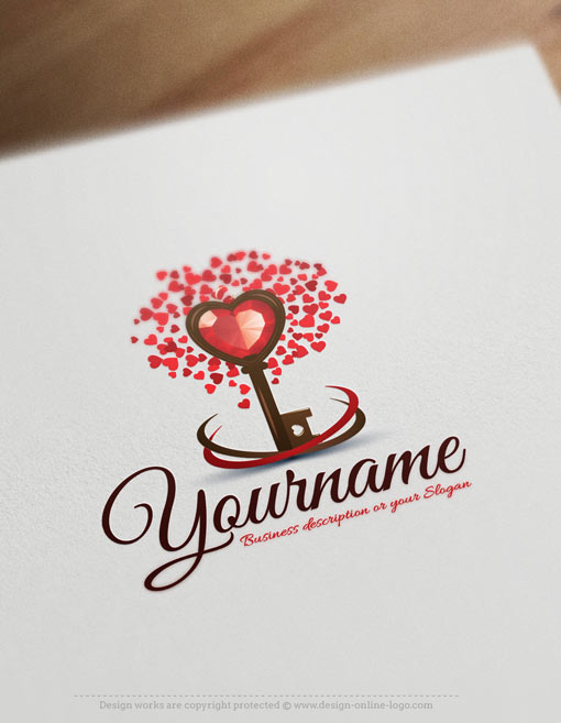 Tree of Hearts Logo templates + FREE Business Card