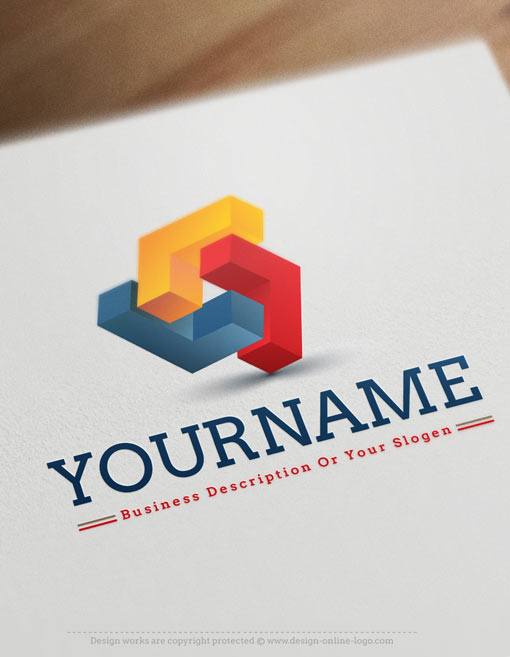 online-3D-Abstract-logo-design-template