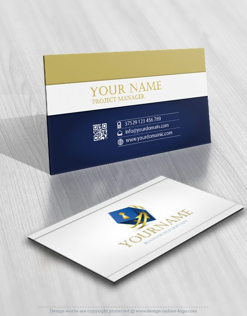 3075-Security-lock-key-logo-business-card-design