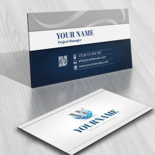 3076-Alphabet-Nature-Logo-business-card-design