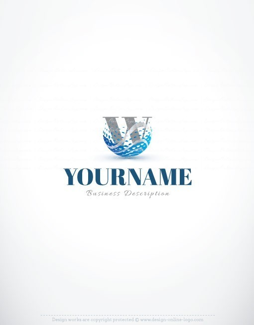 3076-Initials-water-logo-design-templates