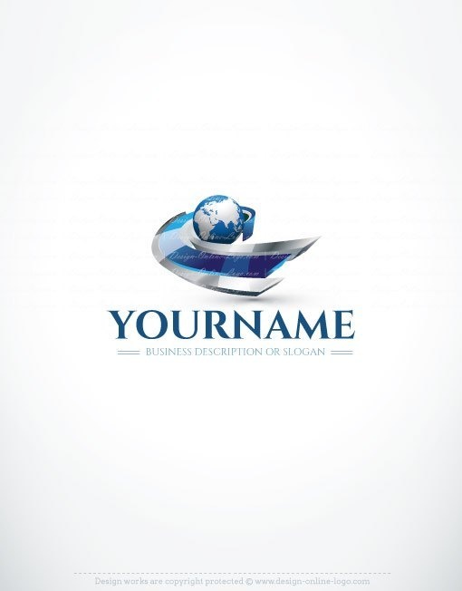3084-3d-globe-path-logo-design-templates