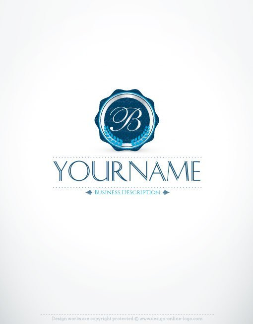 Exclusive Design: Initials Stamp online logo + FREE Business Card