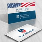 3100-usa-america-initials-logo-free-business-card-design
