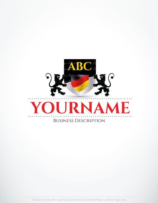 3102-Alphabet-German-flag-logo-design-templates