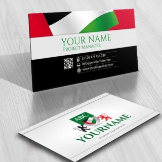 3103-United-Arab-Emirates-initials-logo-free-business-card-design