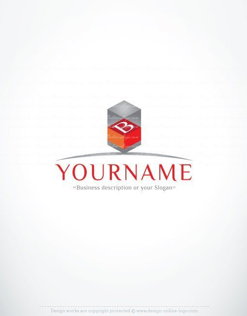 3111-Real-Estate-3D-logo-design-template 3D initials Logo design