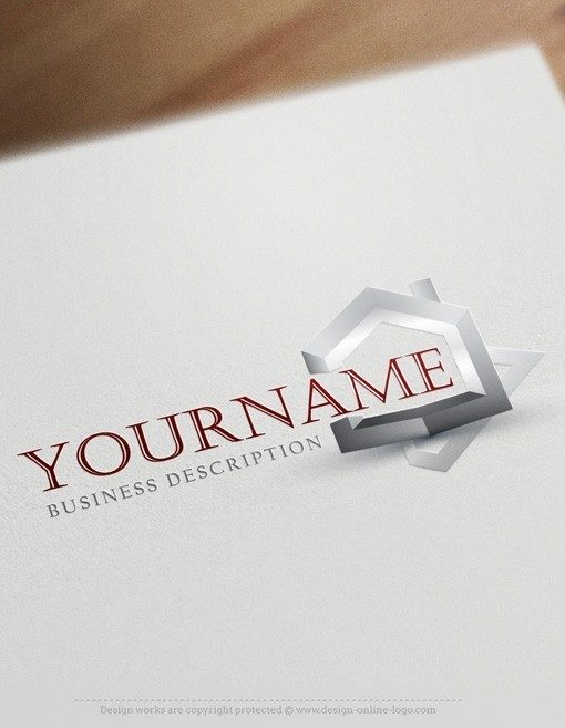 3D-Real-Estate-house-logo-design-templates