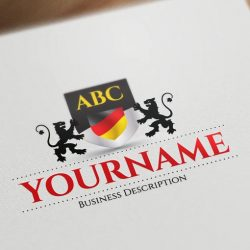 exclusive design deutsch flagge initials logo free business card. Black Bedroom Furniture Sets. Home Design Ideas