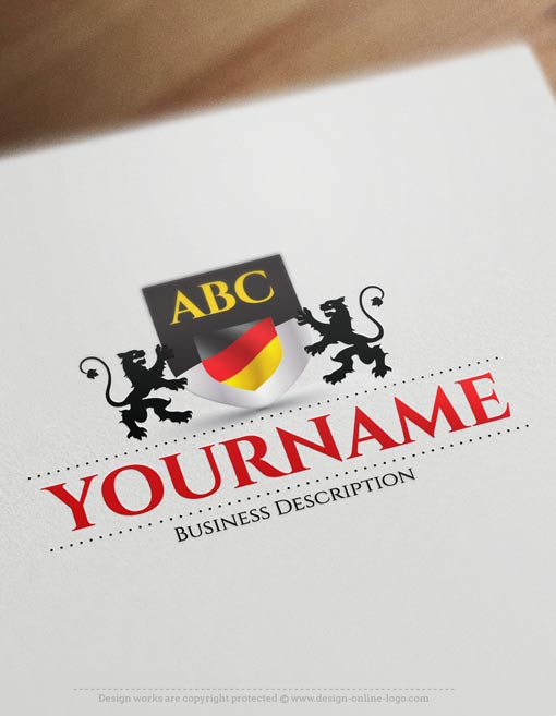 Deutsch-Flagge-Logo-Design