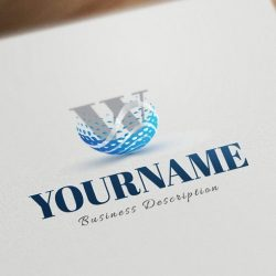 Initials-water-logo-design-templates