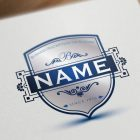Shield-initials-logo-design-online