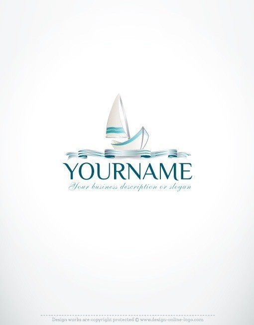 sailing yacht online logo free business card design