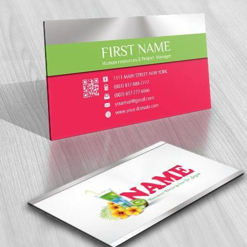 3117-Holiday-Cocktail-logo-business-card-design