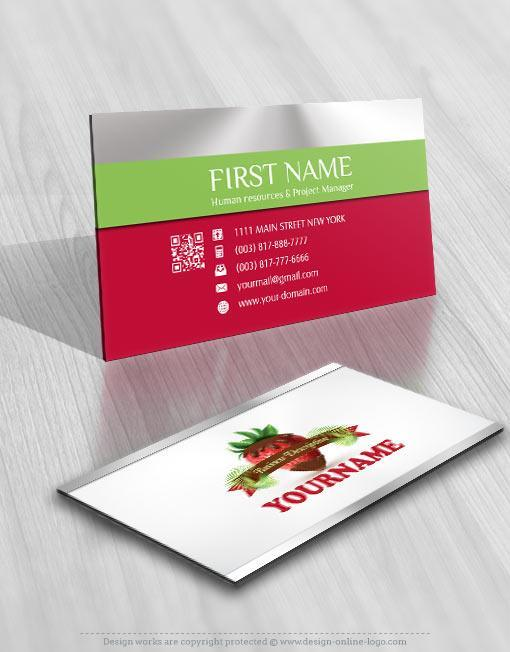 Exclusive design strawberry chocolate logo free business card 3118 sweet strawberry logo business card design colourmoves