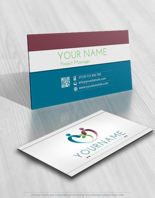 exclusive design online family logo free business card
