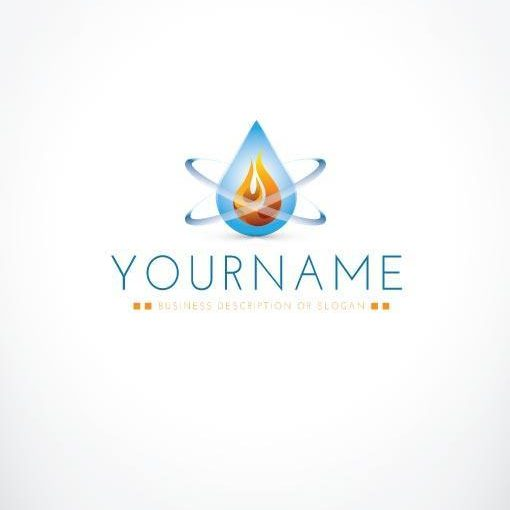 3125--ready-made-water-fire-exclusive-logo-design