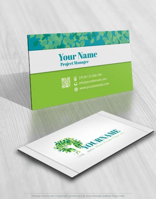 Hand tree logo template free business card design 3133 green tree hands logo free business card colourmoves