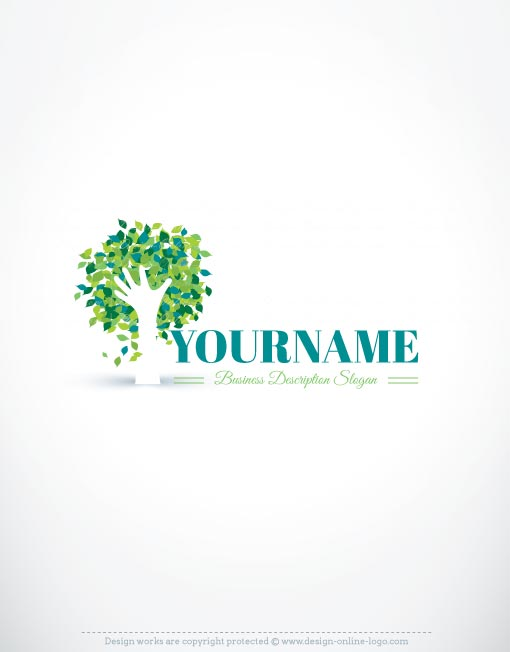 Hand tree logo template free business card design 3133 hand tree logo design templates flashek Images