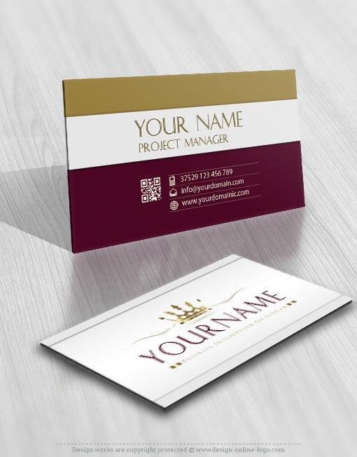 3139-crown-Logo-Images-free-business-card-design