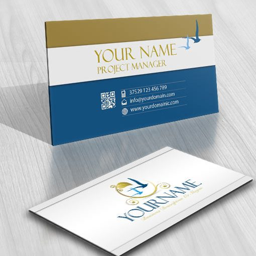3154-sea-birds-Logo-Images-free-business-card-design