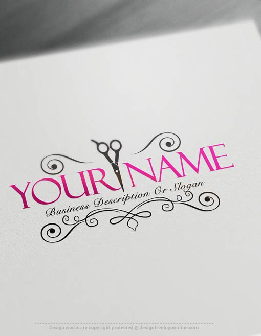 Exclusive logo design hair salon logo images free business card hairdresser logo templates reheart