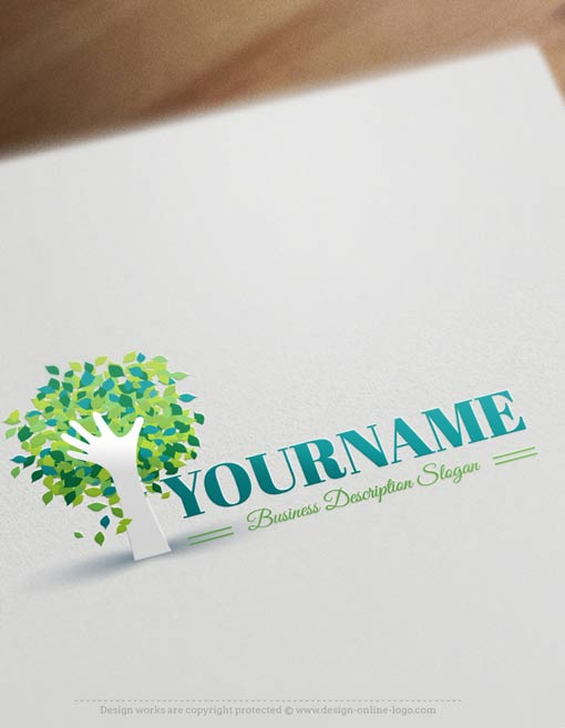 Hand-Tree-logo-template