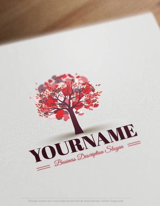 Hearts-tree-logo-design-templates