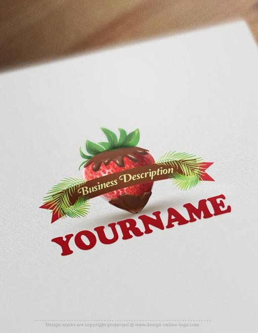 ready-made-Strawberry-Chocolate-exclusive-logo-design