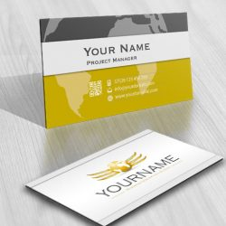 3183-3D-globe-logos-Images-free-business-card-design