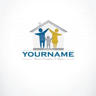 3195-create-a-logo-family-house-logo-templates