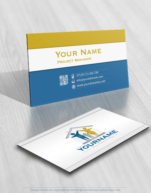 3195-family-house-logos-Images-free-business-card-design