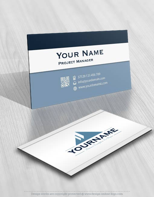 3196-Simple-triangle-logos-Images-free-business-card-design