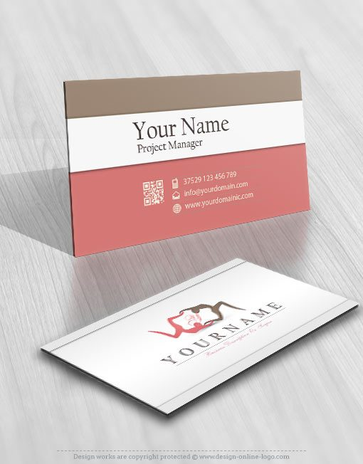 3204-yoga-logos-Images-free-business-card-design