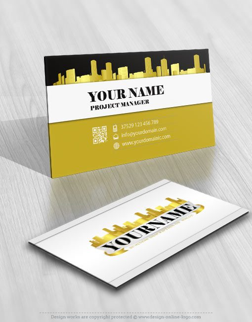 3208-gold-city-logos-Images-free-business-card-design