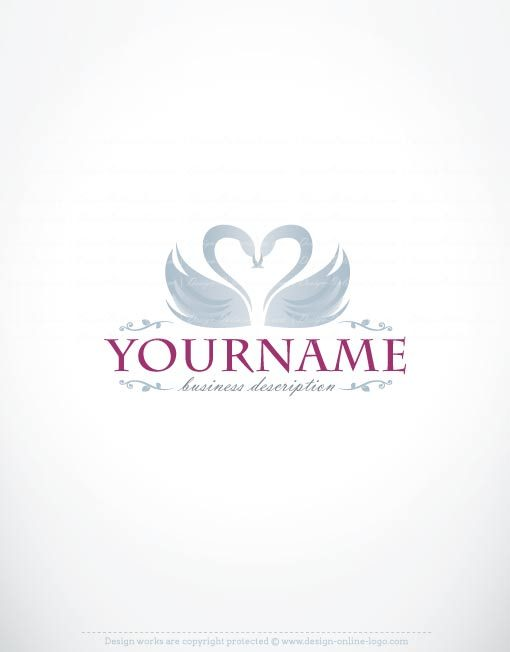 Exclusive Logo Design Swans Logo Images Free Business Card