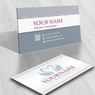 3214-swan-logos-Images-free-business-card-design