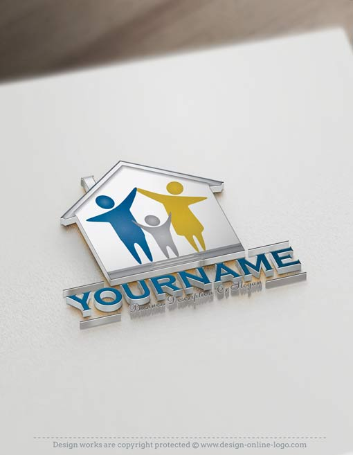 create-a-logo-family-house-logo-templates