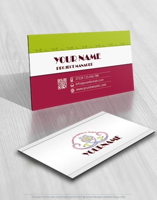 3217-flower-logos-Images-free-business-card-design