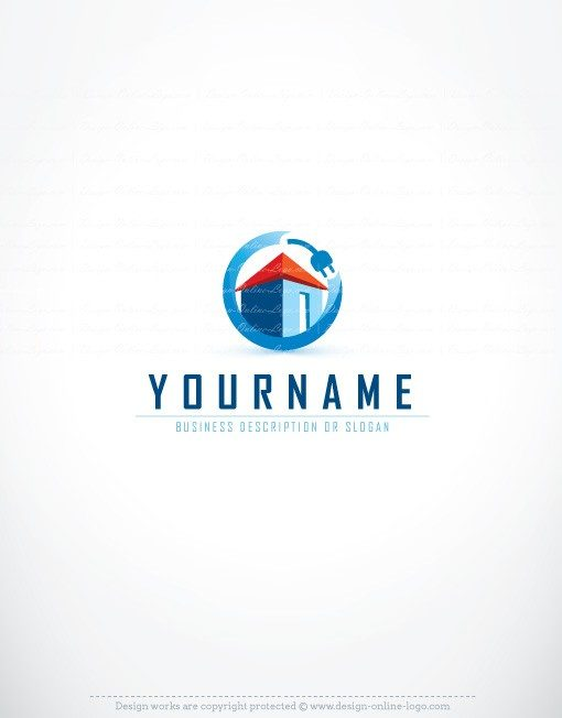 3251-ready-made-Electric-house-logo-templates