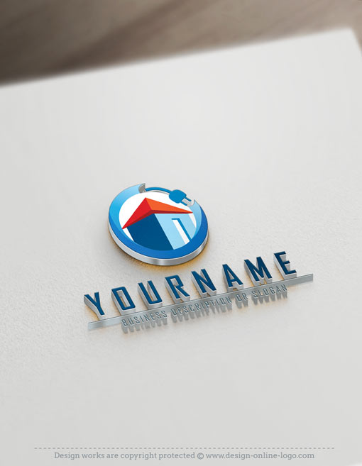Exclusive logo design electrical house logo images free for Household design company