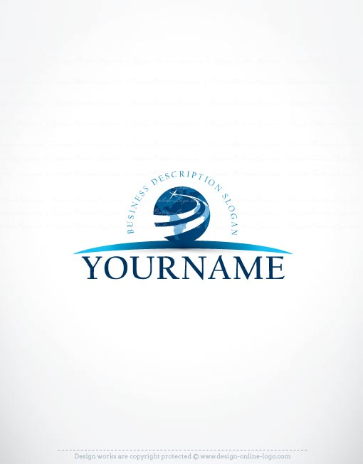 Exclusive logo template globe path logo free business card reheart Images