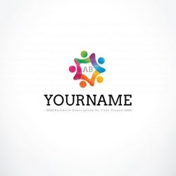 3284-online-Group-people-logo-design-template