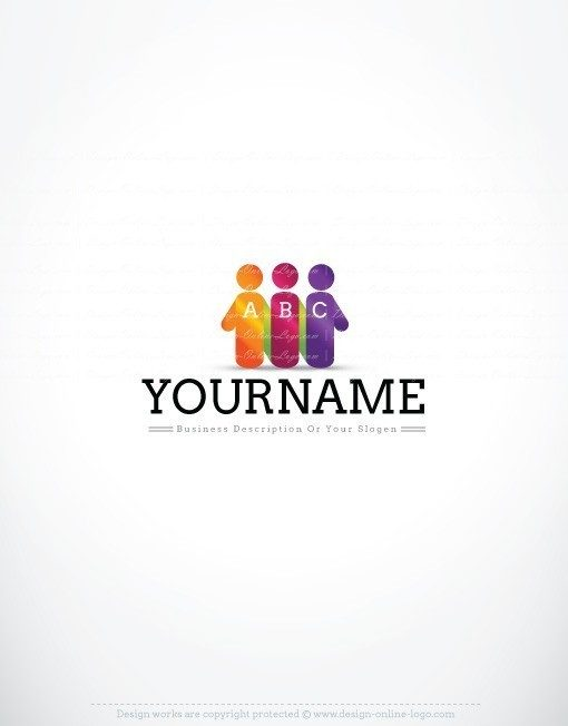 3286-online-Initials-people-group-logo-design-template
