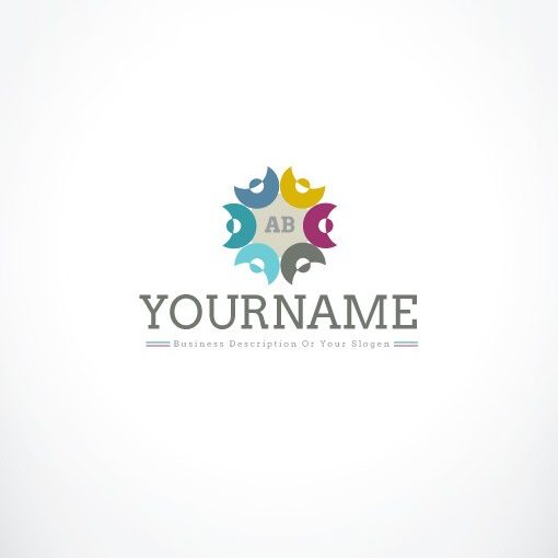 3288-online-people-group-logo-design-template